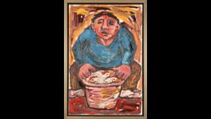 Martin van Wordragen - Marktman met haantjes